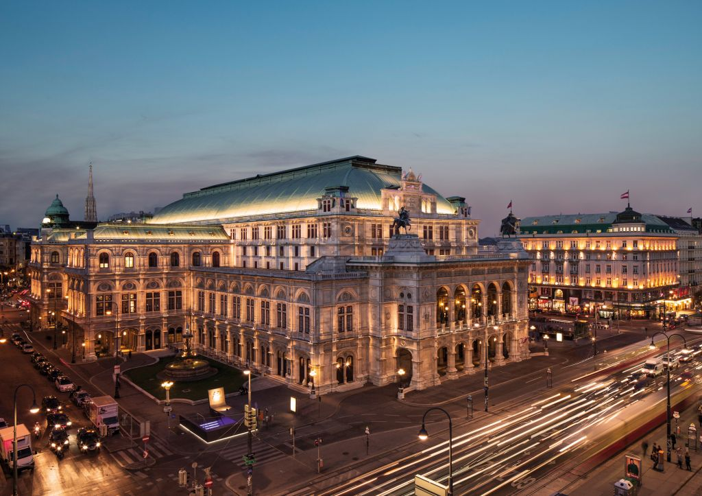 View at the Opera House in Vienna